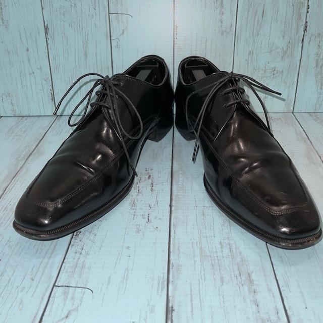【即決】REGAL リーガル 24cm Uチップ ビジネスシューズ 革靴 黒 ブラック_画像1