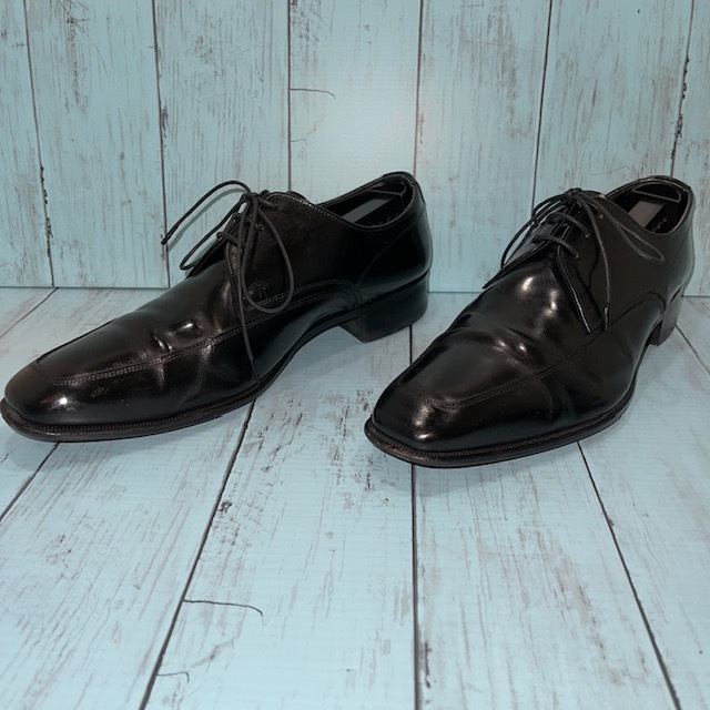 【即決】REGAL リーガル 24cm Uチップ ビジネスシューズ 革靴 黒 ブラック_画像2