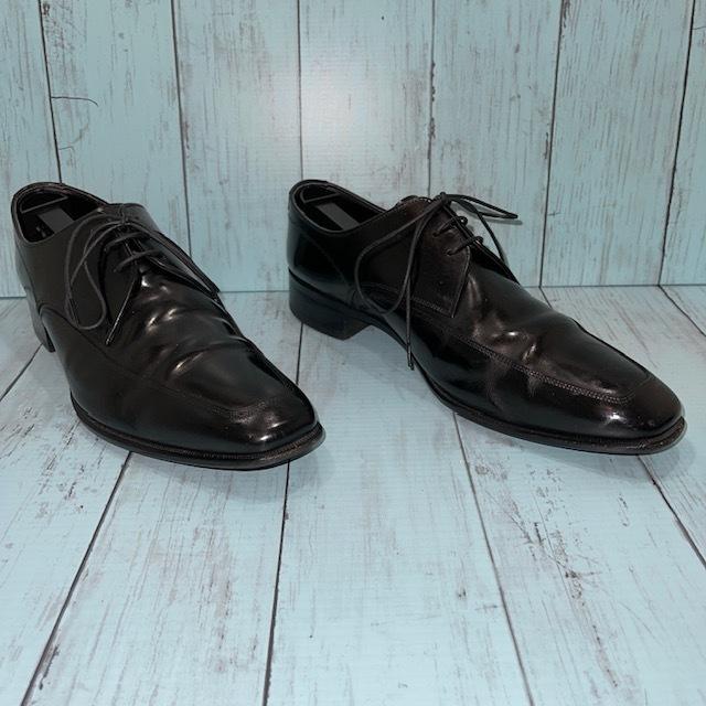 【即決】REGAL リーガル 24cm Uチップ ビジネスシューズ 革靴 黒 ブラック_画像3