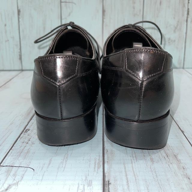 【即決】REGAL リーガル 24cm Uチップ ビジネスシューズ 革靴 黒 ブラック_画像4