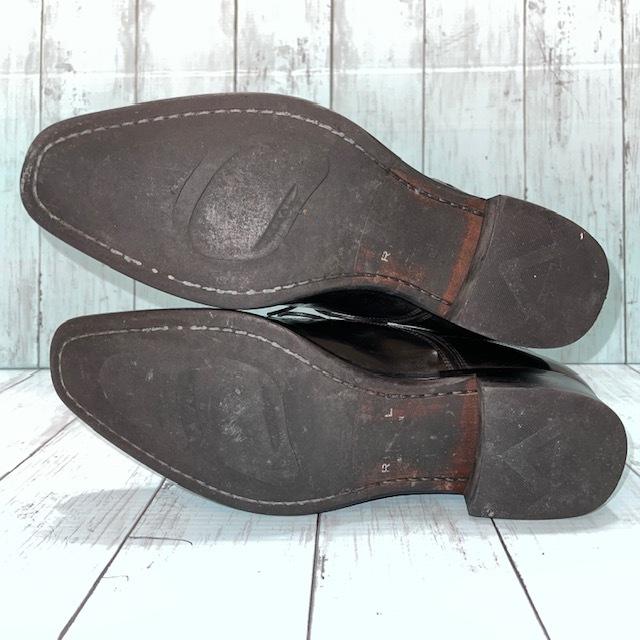 【即決】REGAL リーガル 24cm Uチップ ビジネスシューズ 革靴 黒 ブラック_画像5