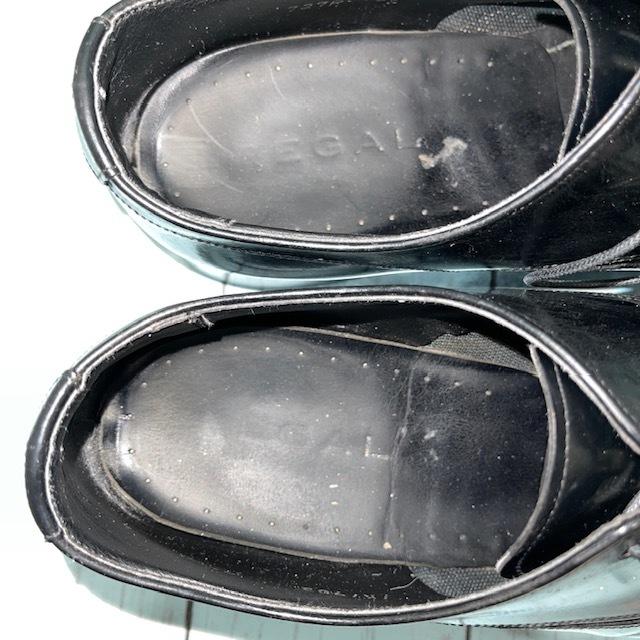 【即決】REGAL リーガル 24cm Uチップ ビジネスシューズ 革靴 黒 ブラック_画像6