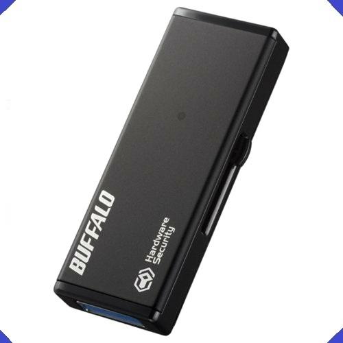 【送料無料 新品】 強制暗号化 BUFFALO 7-XE 4GB RUF3-HSL4G USB3.0 セキュリティ-USBメモリ-_画像1