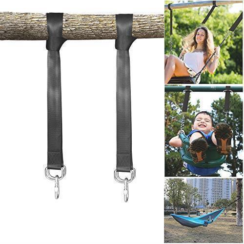 ハンモック用ベルト ハンモック固定ロープ 2本セット 収納袋とフック付き キャンプ アウトドア用 簡単設置 長さ150cm 幅5cm_画像1