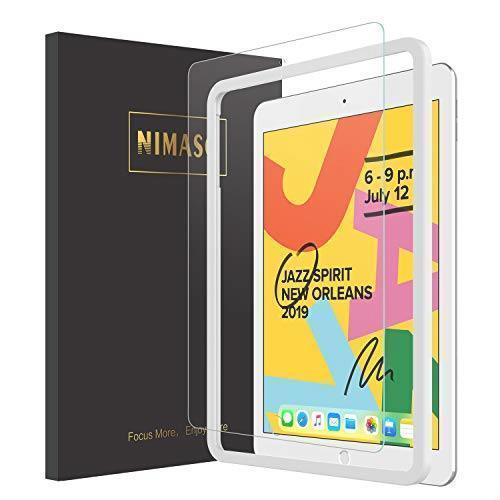 【ガイド枠付き】Nimaso iPad 10.2 ガラスフィルム (第7世代) 強化ガラス 液晶保護フィルム_画像1