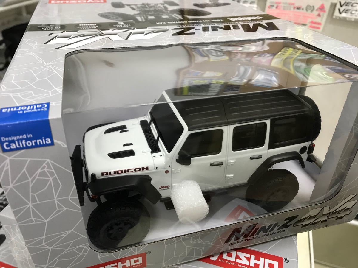 京商 ミニッツ 4×4 ジープ ラングラー アンリミテッド ルビコン ブライトホワイト 新品未開封