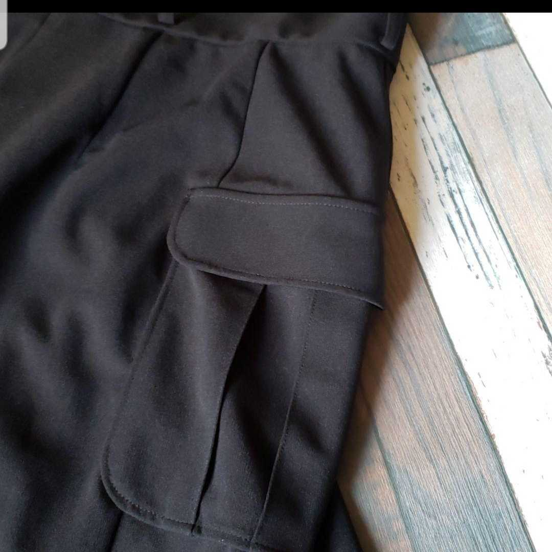 美品 ムルーア ロングスカート 黒 スリット入り 送料198円_画像7