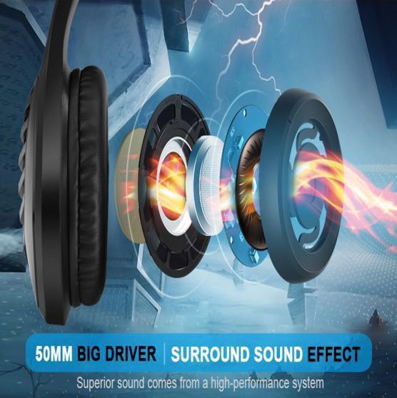 ゲーミングヘッドセット ブラック 3.5mmオーディオケーブル USB接続 PC/ゲーム機 マイク 会話 チャット_画像2