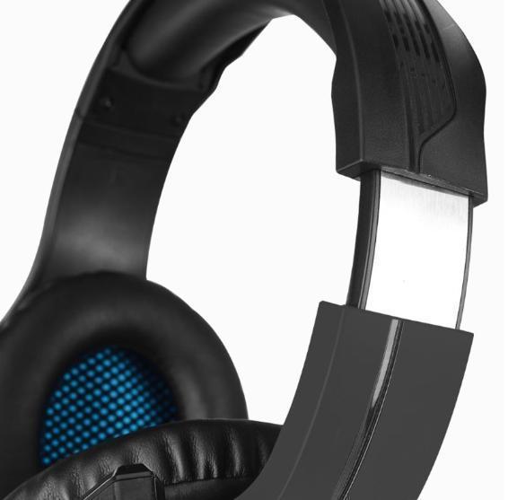 ゲーミングヘッドセット ブラック 3.5mmオーディオケーブル USB接続 PC/ゲーム機 マイク 会話 チャット_画像5