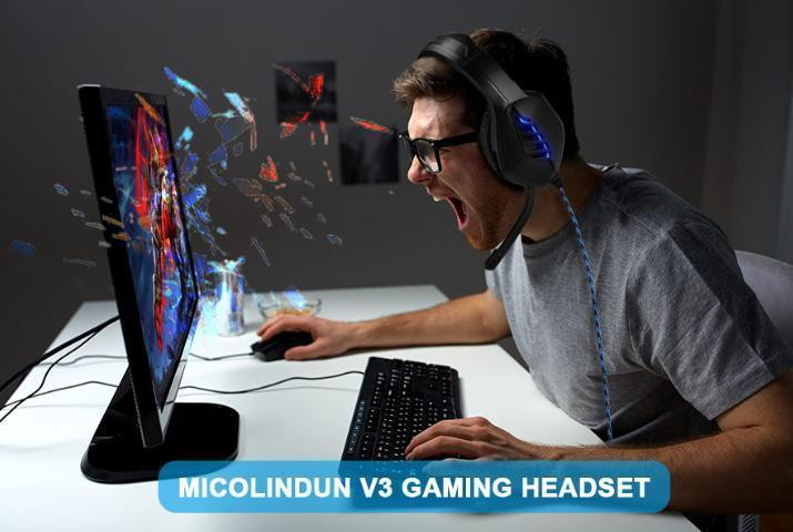 ゲーミングヘッドセット ブラック 3.5mmオーディオケーブル USB接続 PC/ゲーム機 マイク 会話 チャット_画像7