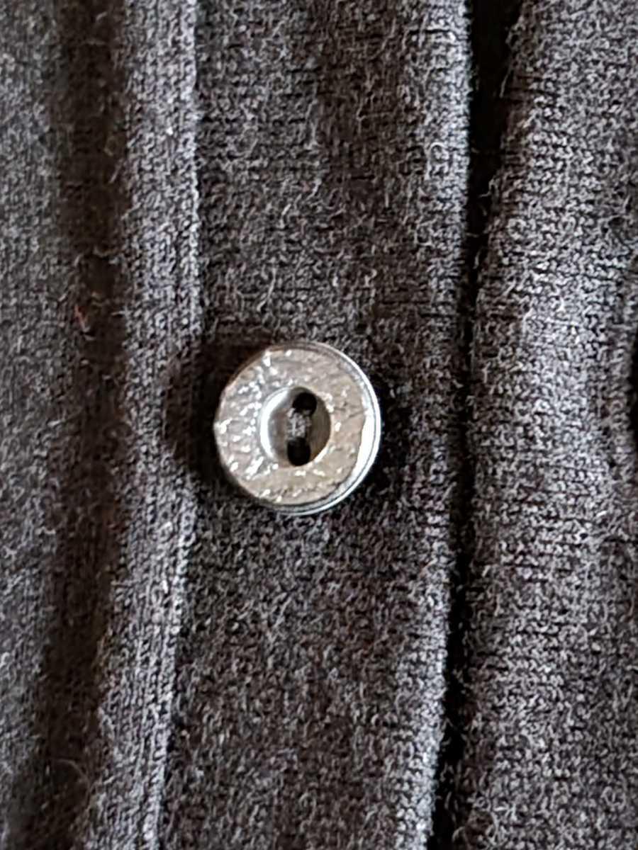 MADE IN JAPAN 日本製 カーディガン ストレッチ ウール100% 黒 L シンプルデザイン こだわりのボタン使用 eit-em h.mplannig_画像4