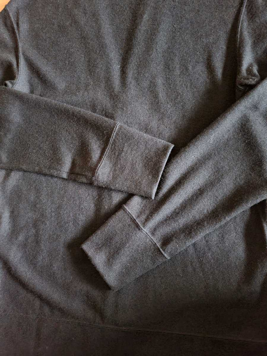MADE IN JAPAN 日本製 カーディガン ストレッチ ウール100% 黒 L シンプルデザイン こだわりのボタン使用 eit-em h.mplannig_画像9