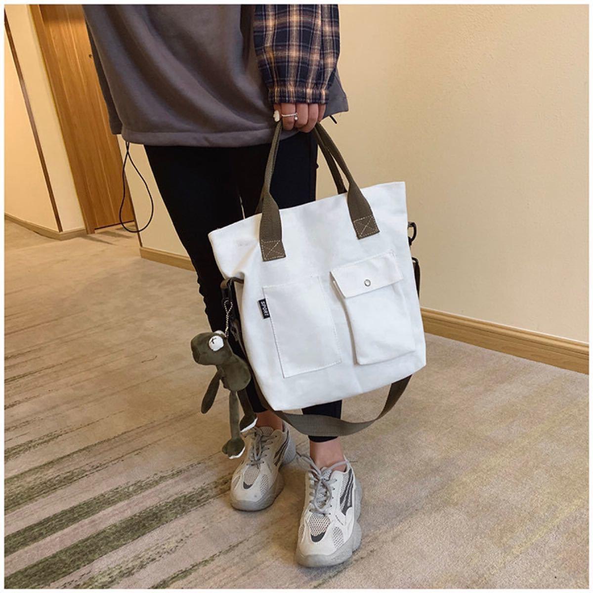 トートバッグ ショルダーバッグ 2wayバッグ 手提げバッグ ※チャーム付