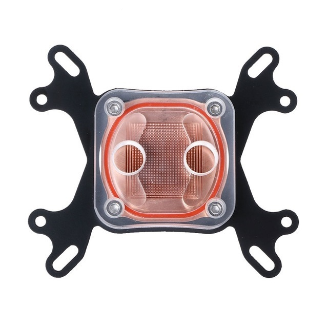CPU водяное охлаждение bro заднее крыло блок охлаждающий 50mm медь