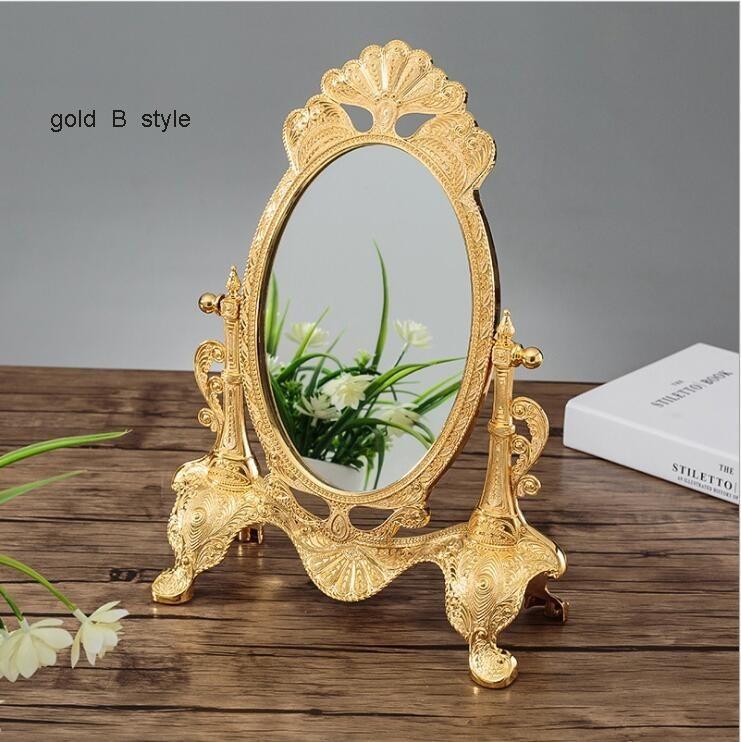 ◆最安にします◆ ヨーロッパ ロココ調 卓上鏡 化粧鏡 ミラー AT9009_画像2