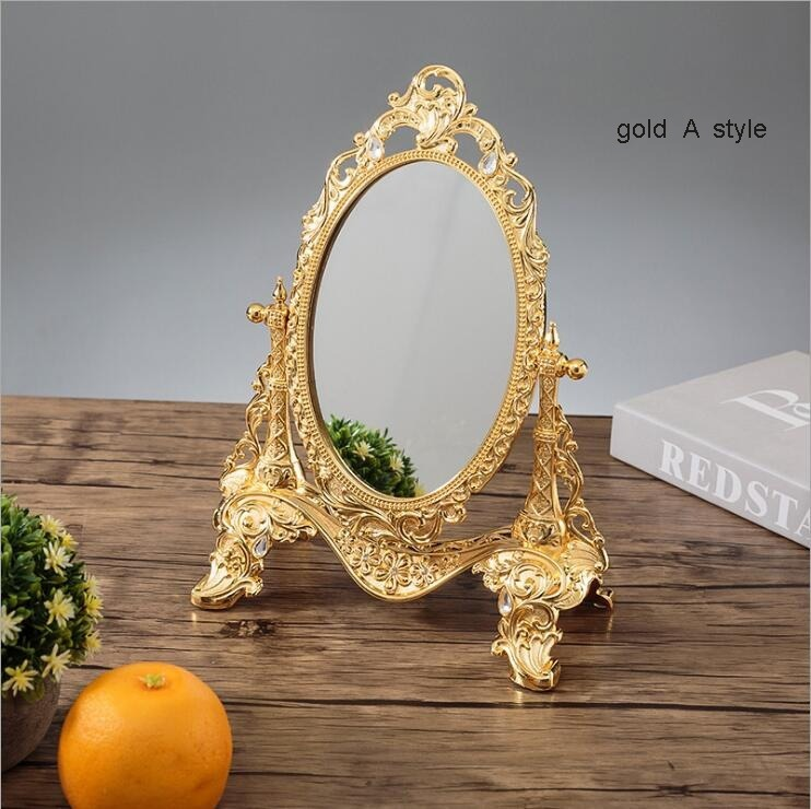 ◆最安にします◆ ヨーロッパ ロココ調 卓上鏡 化粧鏡 ミラー AT9009_画像3