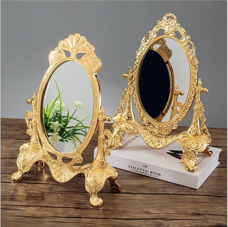 ◆最安にします◆ ヨーロッパ ロココ調 卓上鏡 化粧鏡 ミラー AT9009_画像1