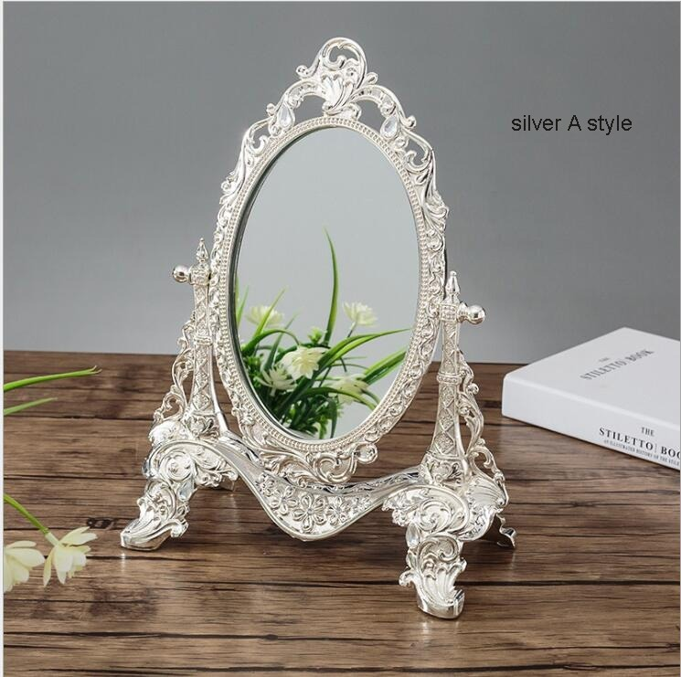◆最安にします◆ ヨーロッパ ロココ調 卓上鏡 化粧鏡 ミラー AT9009_画像4