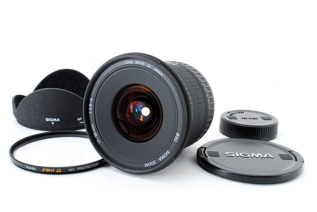 SIGMA シグマ 17-35mm D 1:2.8-4 EX ZOOM AF ズーム 望遠 レンズ Nikon ニコン 広角 キャップ フード フィルター付 [美品] #727279_画像1