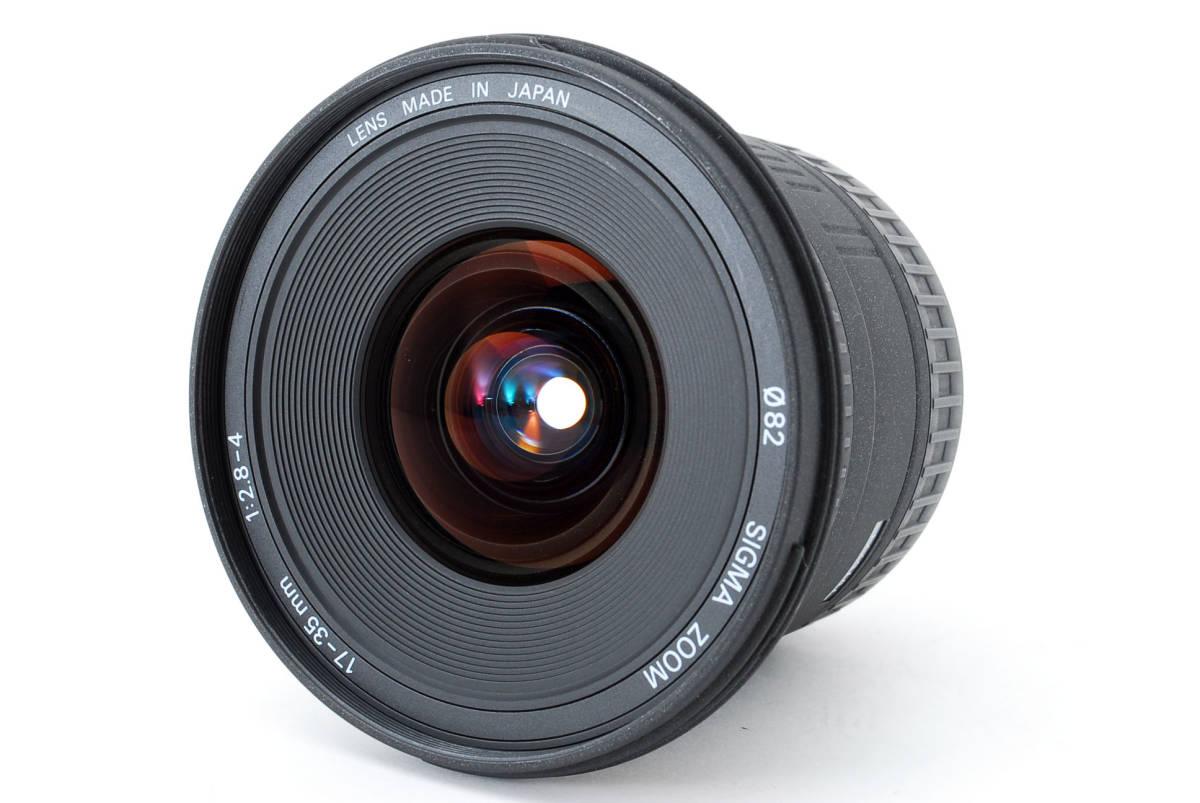 SIGMA シグマ 17-35mm D 1:2.8-4 EX ZOOM AF ズーム 望遠 レンズ Nikon ニコン 広角 キャップ フード フィルター付 [美品] #727279_画像2
