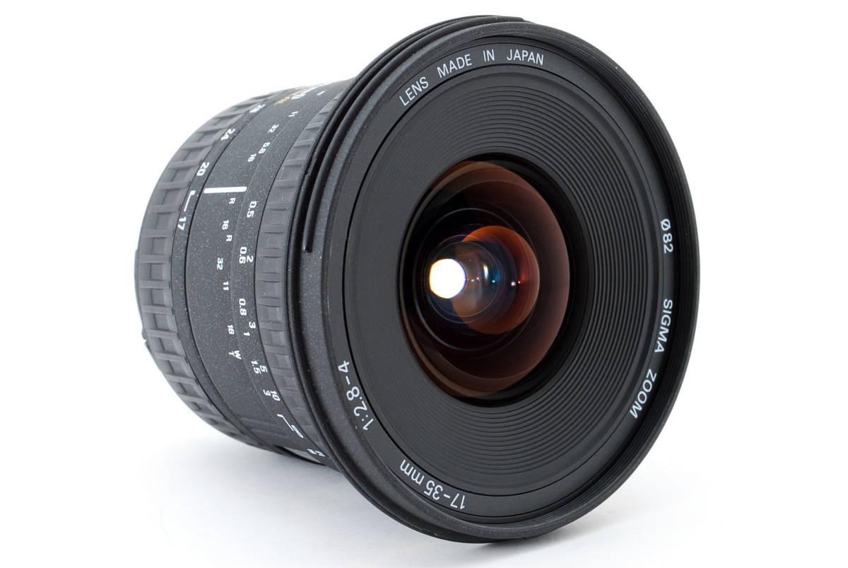 SIGMA シグマ 17-35mm D 1:2.8-4 EX ZOOM AF ズーム 望遠 レンズ Nikon ニコン 広角 キャップ フード フィルター付 [美品] #727279_画像4