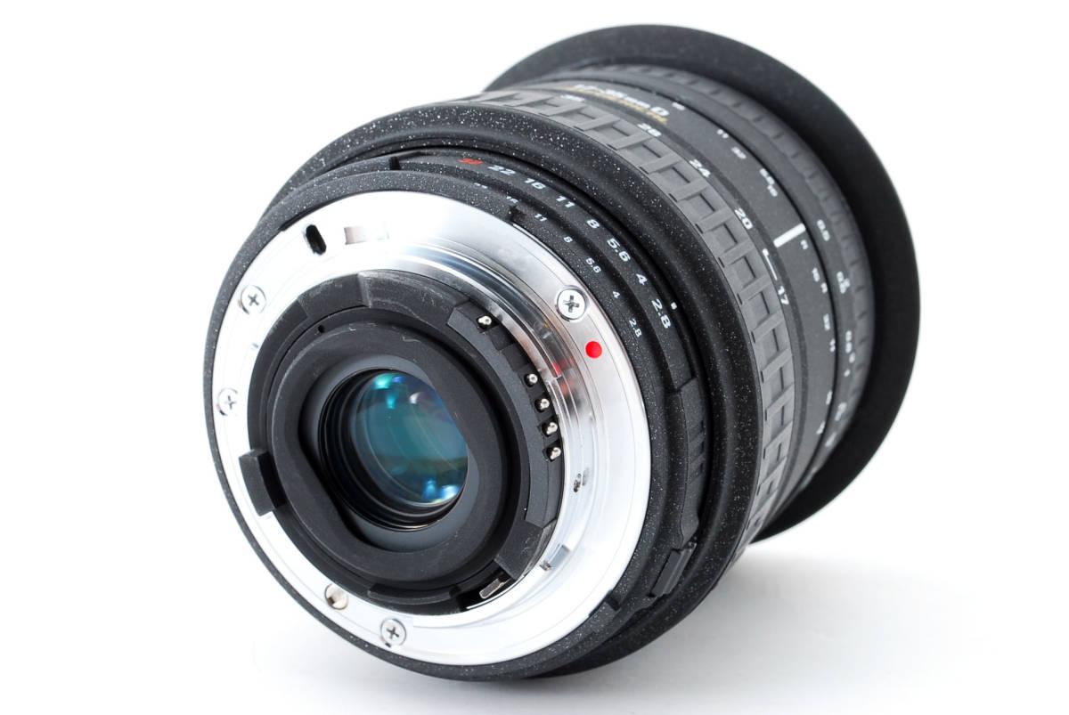 SIGMA シグマ 17-35mm D 1:2.8-4 EX ZOOM AF ズーム 望遠 レンズ Nikon ニコン 広角 キャップ フード フィルター付 [美品] #727279_画像5