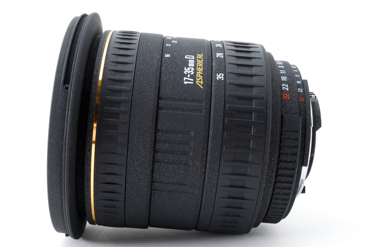 SIGMA シグマ 17-35mm D 1:2.8-4 EX ZOOM AF ズーム 望遠 レンズ Nikon ニコン 広角 キャップ フード フィルター付 [美品] #727279_画像8