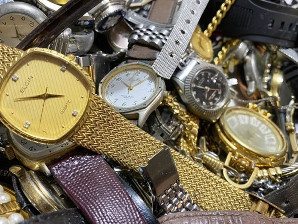 腕時計 まとめて 100本以上 3kg 大量 SEIKO CITIZEN ALBA BABY-G オリエント ELGIN スウォッチ ノーブランド等 ジャンク_画像7