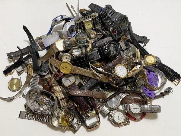 腕時計 まとめて 100本以上 3kg 大量 SEIKO CITIZEN ALBA BABY-G オリエント ELGIN スウォッチ ノーブランド等 ジャンク_画像1