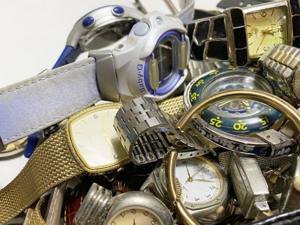 腕時計 まとめて 100本以上 3kg 大量 SEIKO CITIZEN ALBA BABY-G オリエント ELGIN スウォッチ ノーブランド等 ジャンク_画像4