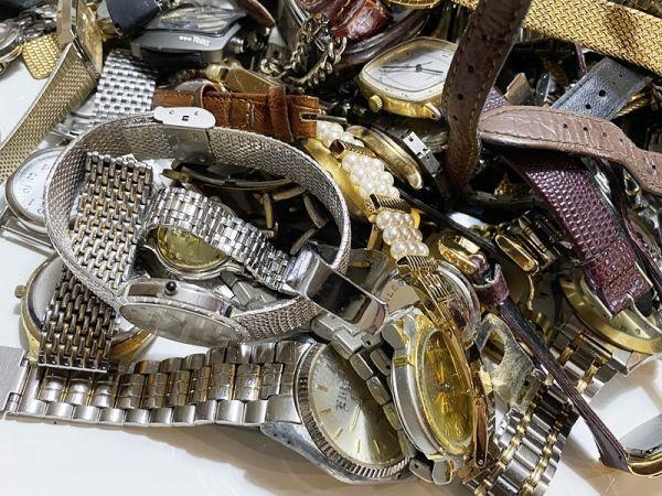 腕時計 まとめて 100本以上 3kg 大量 SEIKO CITIZEN ALBA BABY-G オリエント ELGIN スウォッチ ノーブランド等 ジャンク_画像3