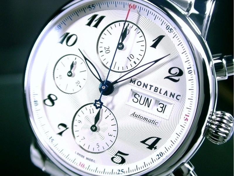本物 激レア MONTBLANC モンブラン マイスターシュタック 7201 4810501 クロノグラフ ス
