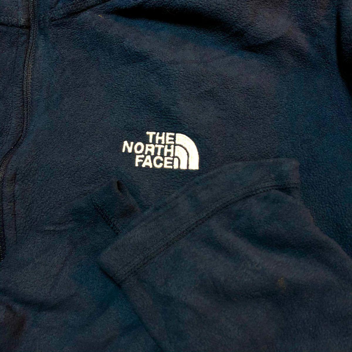 ザ ノースフェイス プルオーバー フリースジャケット古着 ハーフジップ メンズM THE NORTH FACE フリース
