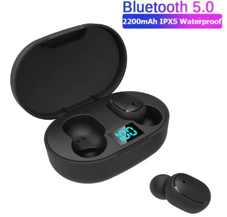 TWSワイヤレスイヤホン LEDディスプレイBluetooth V5.0ヘッドセット iPhone Huawei Samsung pk A6Sイヤフォン -y0781_画像1