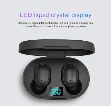 TWSワイヤレスイヤホン LEDディスプレイBluetooth V5.0ヘッドセット iPhone Huawei Samsung pk A6Sイヤフォン -y0781_画像2