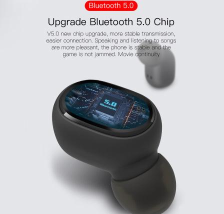 TWSワイヤレスイヤホン LEDディスプレイBluetooth V5.0ヘッドセット iPhone Huawei Samsung pk A6Sイヤフォン -y0781_画像5