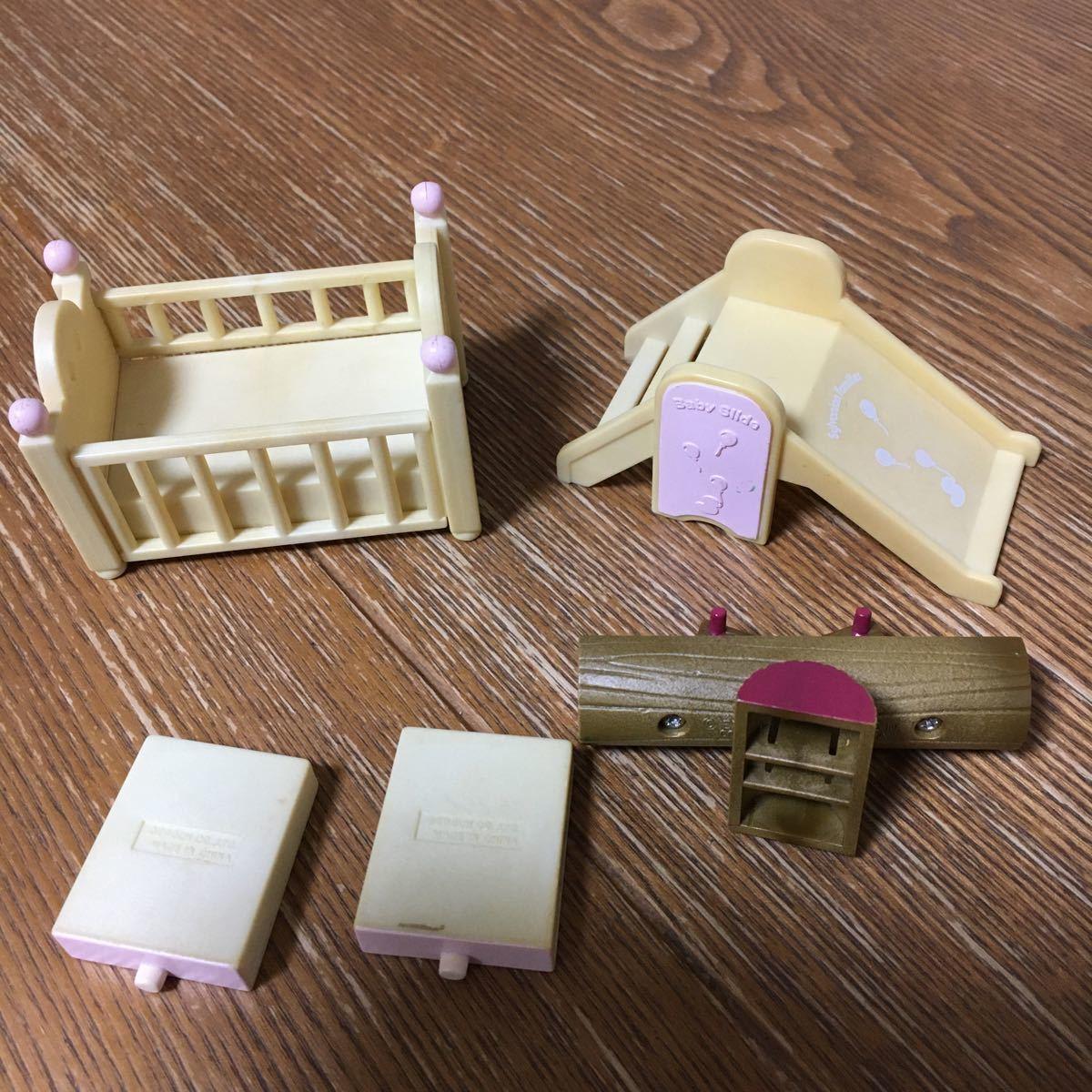 シルバニアファミリー ベビー家具セット 双子 赤ちゃん グレー_画像7