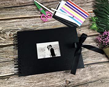 黒 手作り アルバム DIY黒台紙40枚 スクラップブッキング 手作りフォトフレームブック お友達へのプレゼントや結_画像4