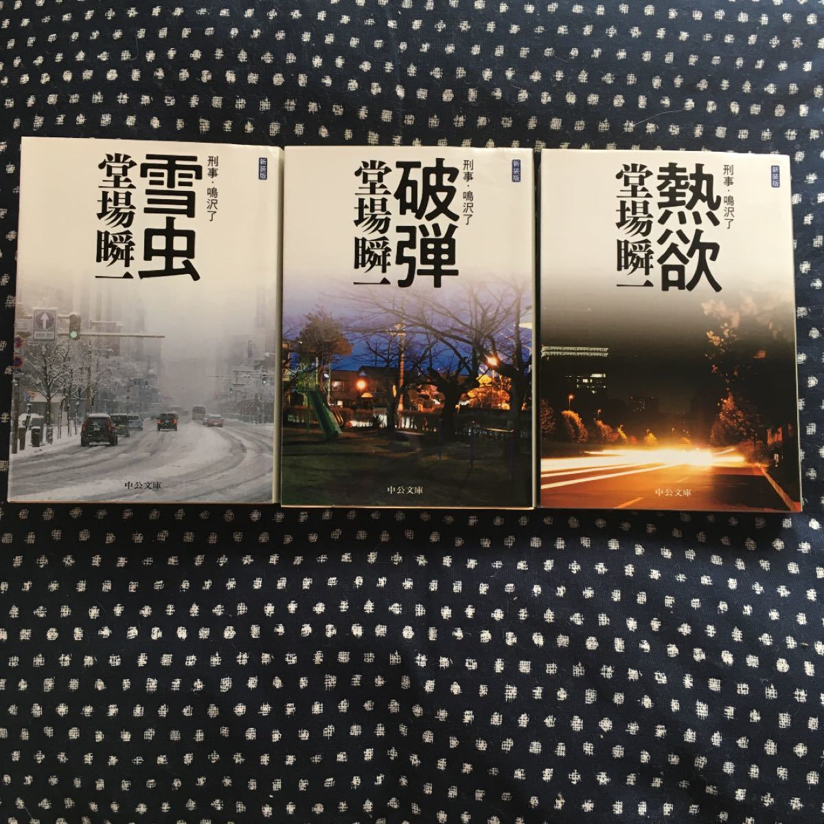 熱欲 破弾 雪虫 刑事・鳴沢了  新装版/中央公論新社/堂場瞬一 (文庫) 中古
