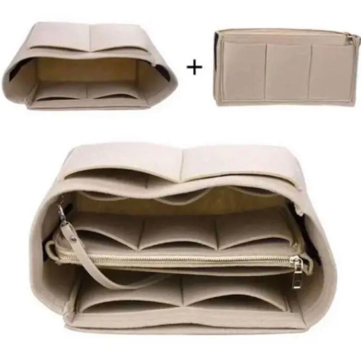 バックインバック フェルト 鞄 軽量 インナーバッグ レッド sサイズ