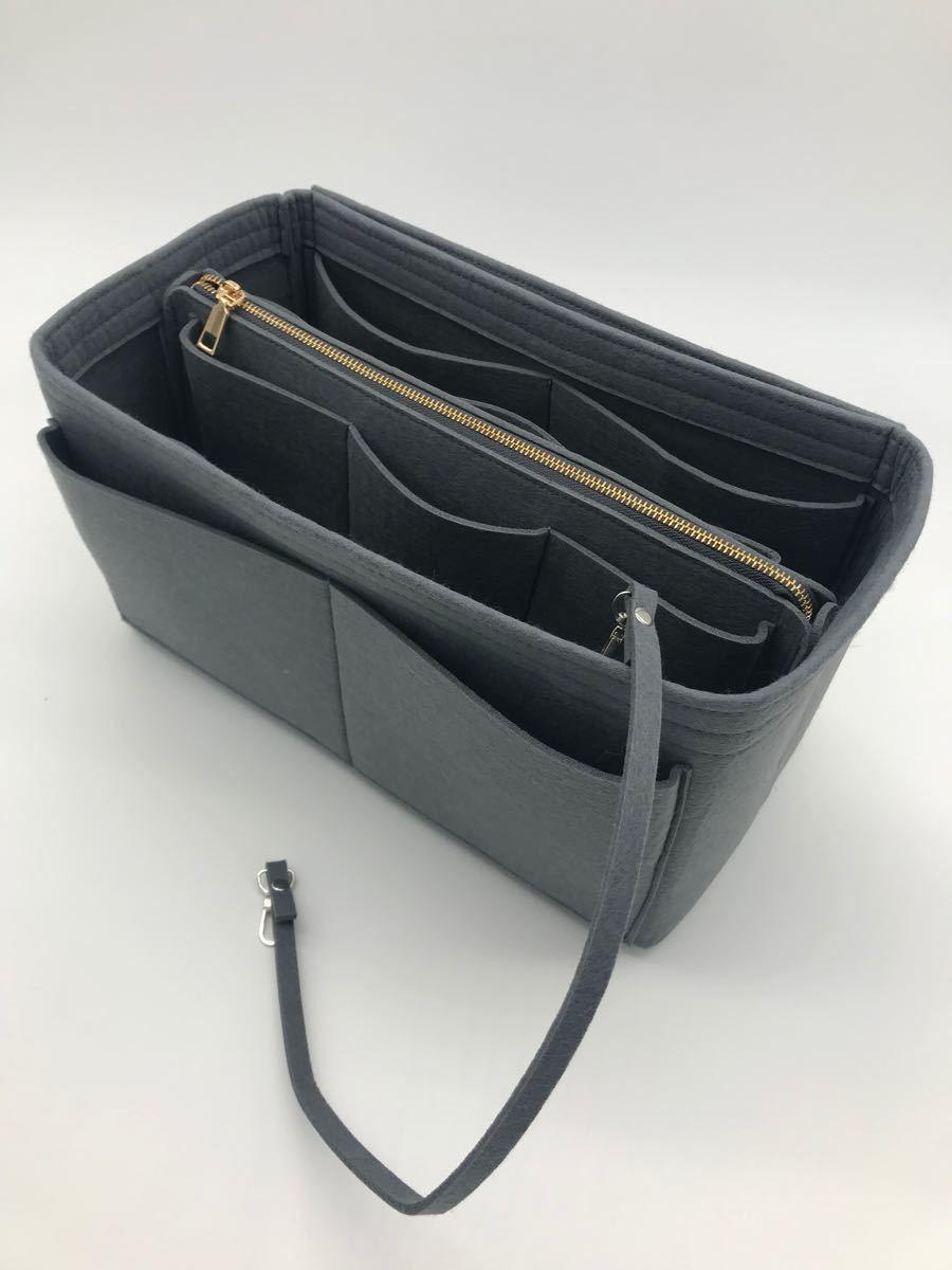 バックインバック フェルト 鞄 軽量 インナーバッグ グレー XL