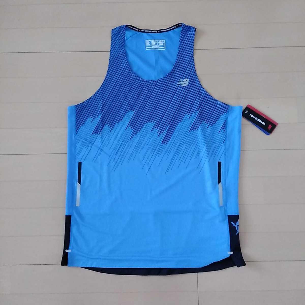 新品★ニューバランス★ランニングシャツ サイズL AMT83222 ハンゾー