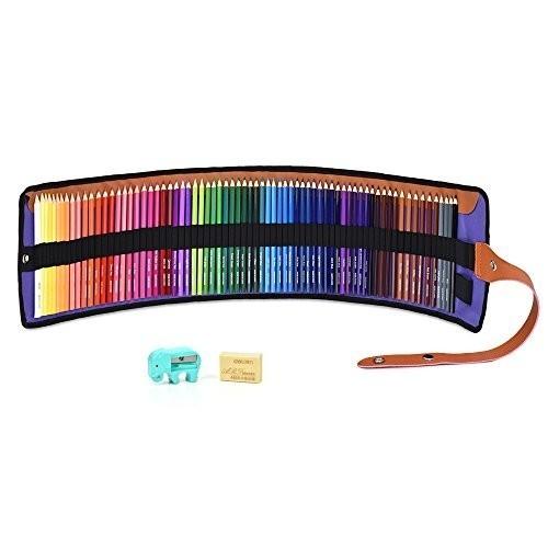 色鉛筆 72色 油性色鉛筆 塗り絵 描き用 収納ケース付き 画材セット 鉛筆削り・消しゴム付き_画像1