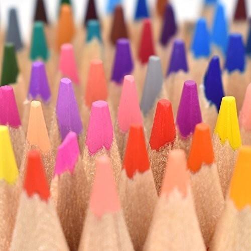 色鉛筆 72色 油性色鉛筆 塗り絵 描き用 収納ケース付き 画材セット 鉛筆削り・消しゴム付き_画像3