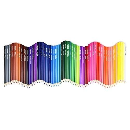 色鉛筆 72色 油性色鉛筆 塗り絵 描き用 収納ケース付き 画材セット 鉛筆削り・消しゴム付き_画像2
