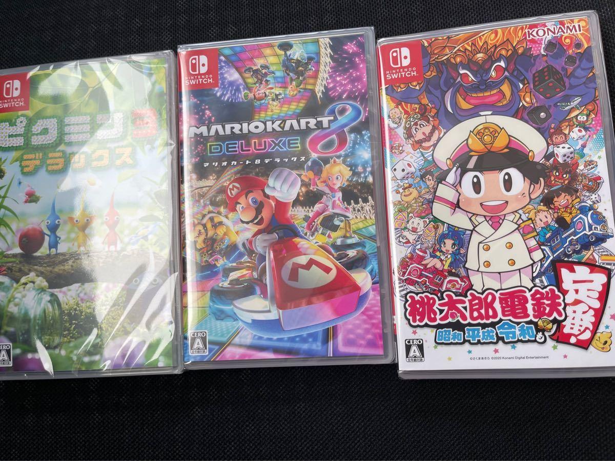 Nintendo switch 桃太郎電鉄 マリオカート8 ピクミン3 新品