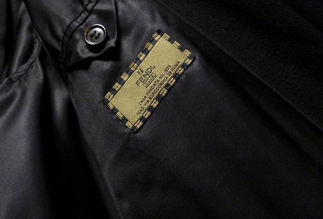 【段違い!】40万! ☆FENDI☆フェンディ 完全最高級ブラックカシミヤコート! 圧倒的高級感! 別格別級! 完全最高! これ以上なし! 超美品!_画像7