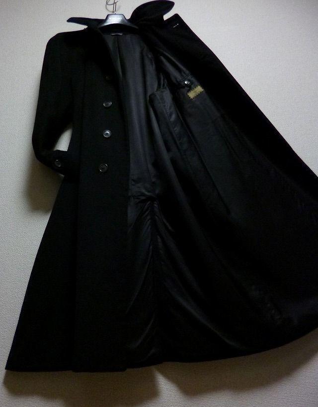 【段違い!】40万! ☆FENDI☆フェンディ 完全最高級ブラックカシミヤコート! 圧倒的高級感! 別格別級! 完全最高! これ以上なし! 超美品!_画像1