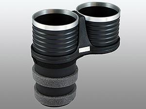 【ALCABO/アルカボ】 ドリンクホルダー ブラック/リング カップ タイプ A7/S7/RS7 4G フロント側センターコンソール用 [AL-M313BS]_画像1