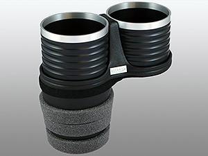 【ALCABO/アルカボ】 ドリンクホルダー ブラック/リング カップ タイプ BMW 5 Series セダン(F10)/ツーリング(F11)/GT(F07)/M5 [AL-B112BS]_画像1